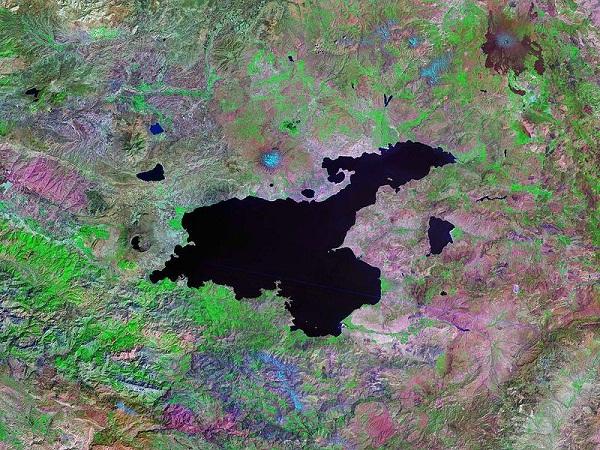 Van Gölü Uydu Görüntüsü