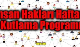 İnsan Hakları Haftası Kutlama Programı