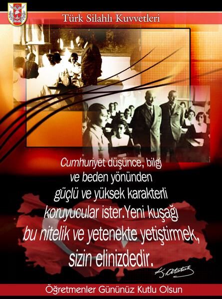Öğretmenler Günü Afişleri / Posterleri