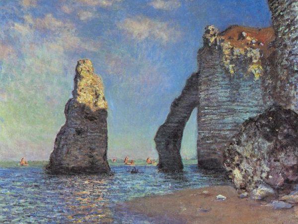 Claude Monet - The Cliff at Étretat after the Storm - 1885