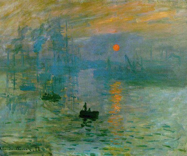 """Claude Monet """"Impression, Soleil Levant"""" (İzlenim, Gün Doğumu) 1872 Paris"""