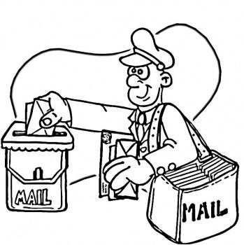 Postacı boyama sayfası