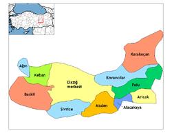 Elazığ Haritası