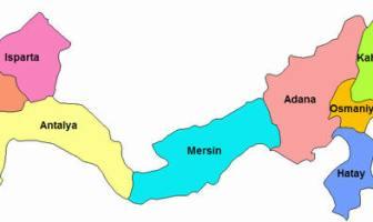 Akdeniz Bölgesi İller Haritası