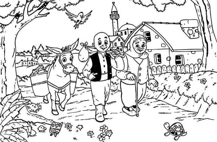 Turk Masal Dunyasinin En Sevilen Karakteri Keloglan Boyama Sayfalari