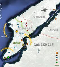 Gelibolu Yarımadası Haritası