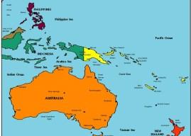 Okyanusya Kıtası Ülkeleri ve Okyanusya Kıtası Haritaları