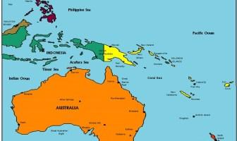 Okyanusya Siyasi Harita