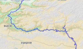 Sakarya Irmağı Haritası