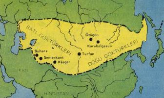 Göktürk Devleti Haritası