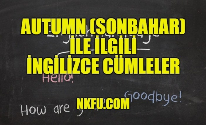 Autumn (Sonbahar) İle İlgili İngilizce Cümleler