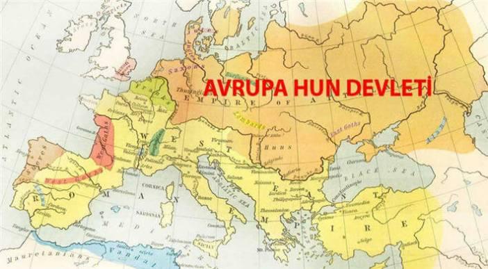 Avrupa Hun Devleti - harita