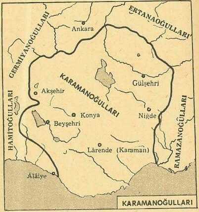 Karamanoğulları Harita
