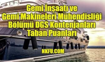 Gemi İnşaatı ve Gemi Makineleri Mühendisliği DGS