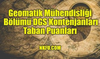 Geomatik Mühendisliği Bölümü DGS
