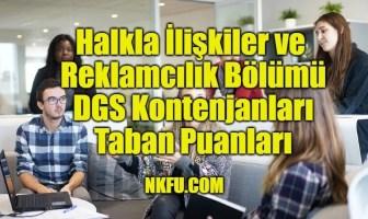Halkla İlişkiler ve Reklamcılık Bölümü DGS Taban Puanları
