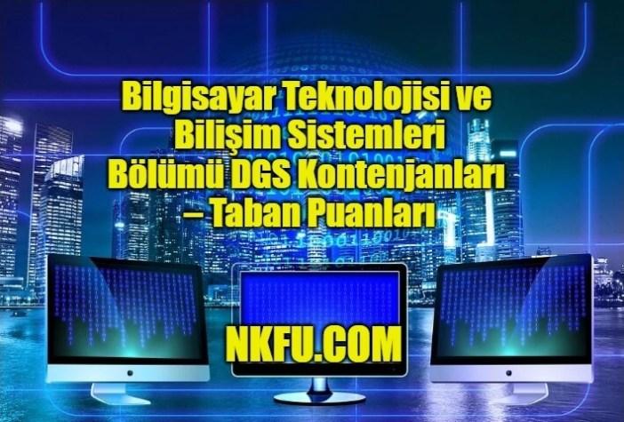 Bilgisayar Teknolojisi ve Bilişim Sistemleri DGS