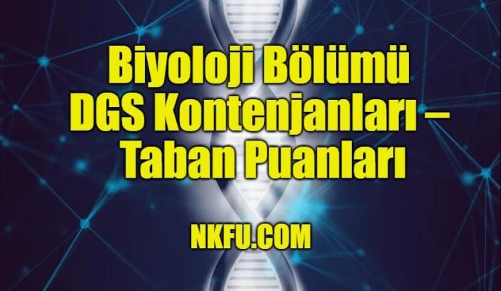 Biyoloji Bölümü DGS