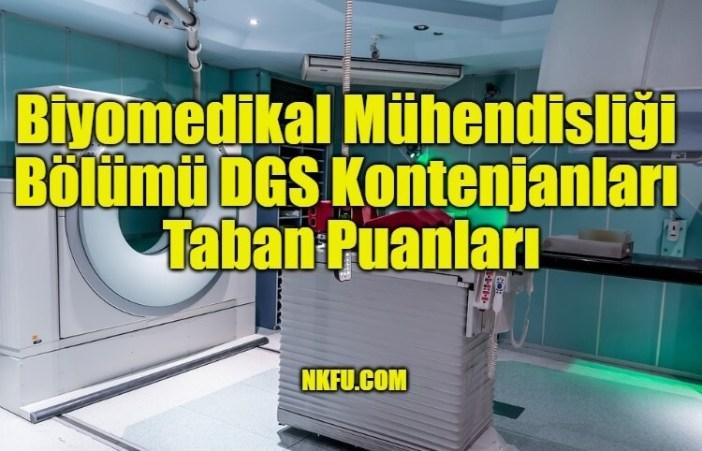 Biyomedikal Mühendisliği Bölümü DGS