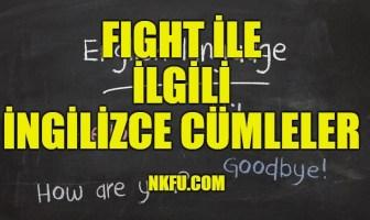 Fight İle İlgili İngilizce Cümleler