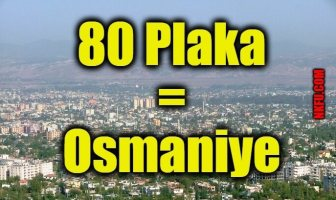 80 plaka osmaniye