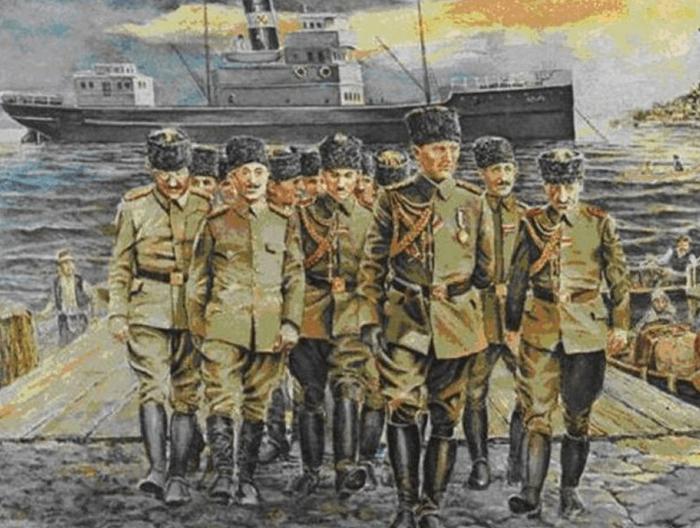 Atatürk Samsun'a çıkışı