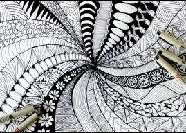 Zentangle: Sanatı Kullanan Meditasyon Tekniğinin Yararları ve Örnekleri