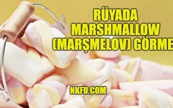 Rüyada Marshmallow (Marşmelov) Görmek