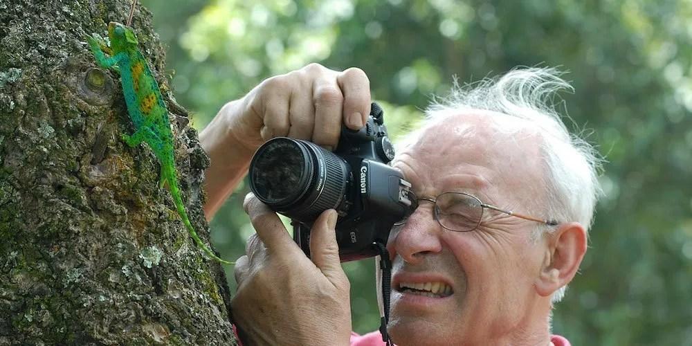 taking a photo in Uganda