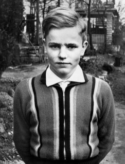 Anonymous photographer and posing boy. Germany 1960s.