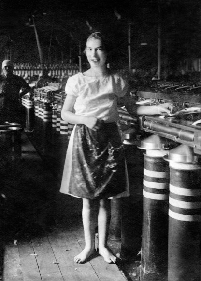 Anonymous photographer and factory girl. Soviet Union, early 20th century.