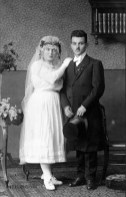 Anonymous photographer and newly weds, Latvia, early 20th century.