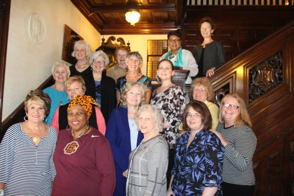 The 2016 NLAPW Board of Directors standing on the beautiful staircase at The Pen Arts Building in Washington, D.C.