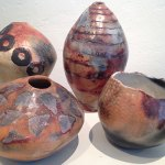 "Handmade ""beach vessels"" by Melissa Woodburn"
