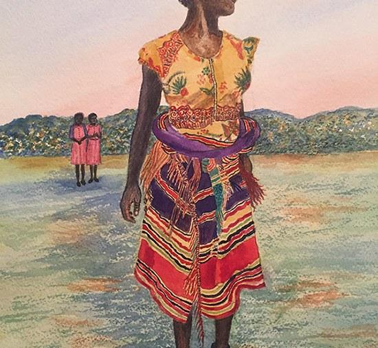 Featured Art: Dancing Girl in Africa