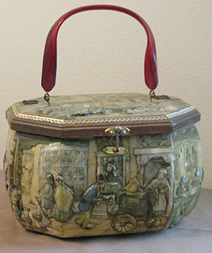 Decoupage purse