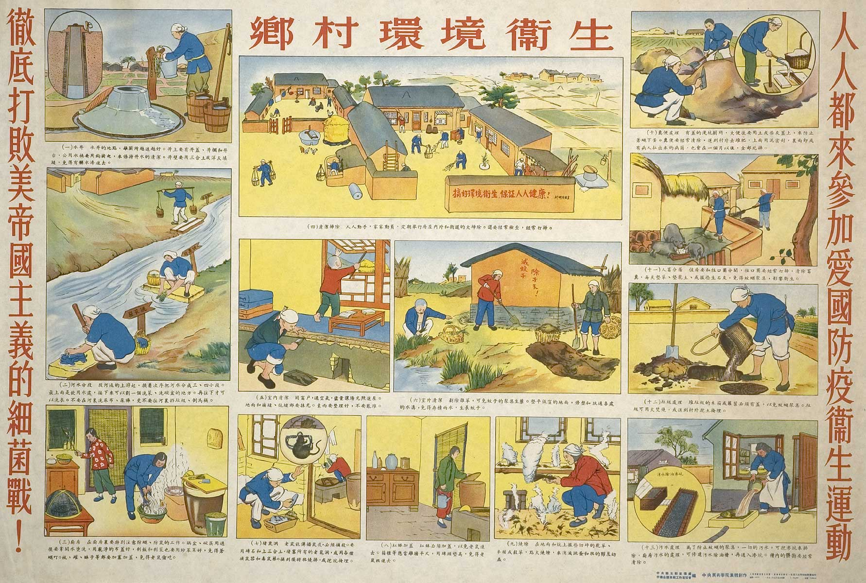 Chinese Public Health Posters Public Health Movement