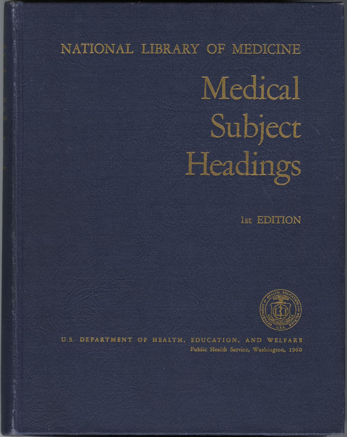 Medical Subject Headings Main Headings Subheadings And