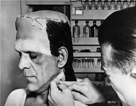 Image result for colin clive frankenstein makeup transformation