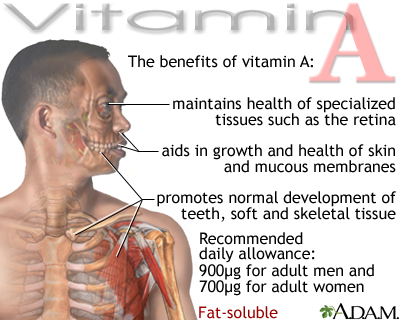 Vitamin A benefit