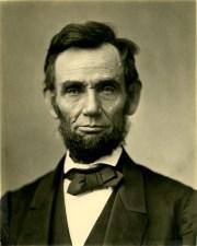 Abraham Lincoln - Matte Collodion Print by Alexander Gardener