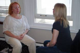 inducing hypnosis with client