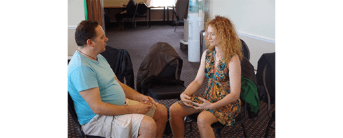 two people in hypnosis