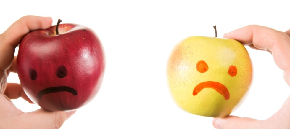 The bruised apple feeling different emotions