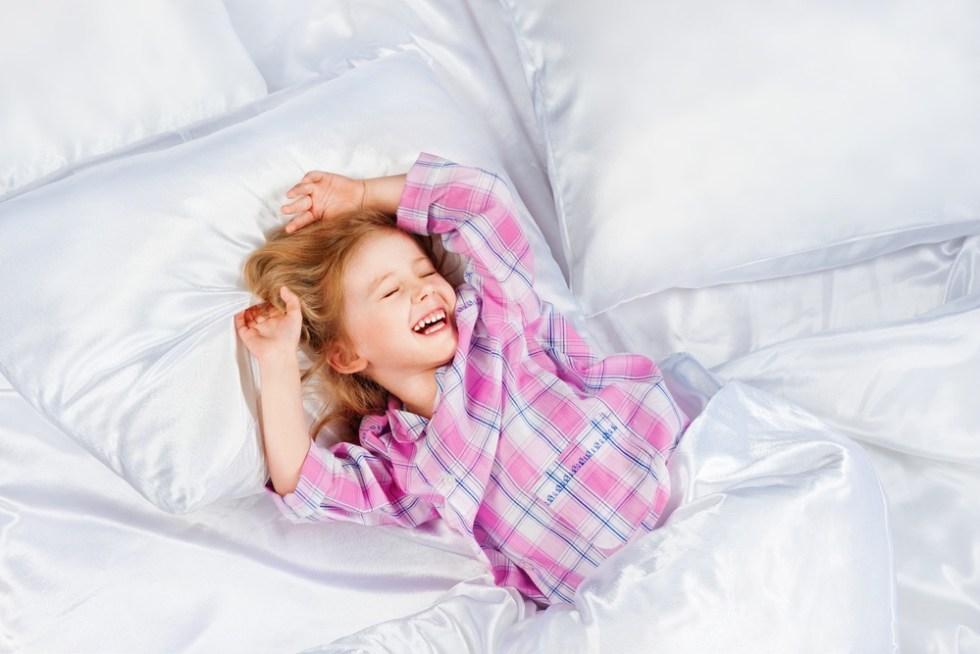 Grateful girl. Bedtime gratitude practice.