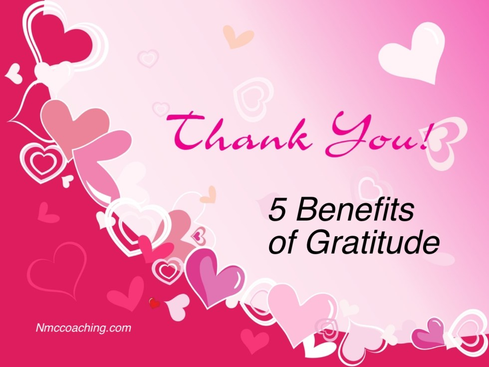 5 benefits of gratitude