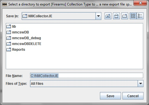 Select Export Directory