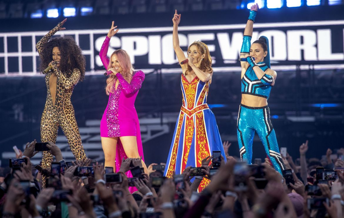 Spice Girls performing live in 2019