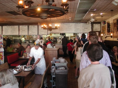 Long lines typify dining at the Frontier Restaurant.