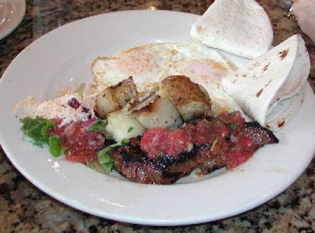 Gold Streek steak and eggs.